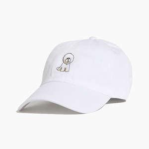 [WARF] Cotton Ballcap Bichon White, 모자, 볼캡 - 풋셀스토어