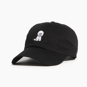 [WARF] Cotton Ballcap Bichon Black, 모자, 볼캡 - 풋셀스토어