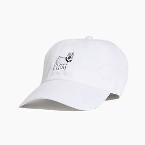 [WARF] Cotton Ballcap Bull Terrier White, 모자, 볼캡 - 풋셀스토어