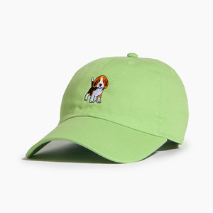 [WARF] Cotton Ballcap Beagle Lt.Green, 모자, 볼캡 - 풋셀스토어