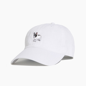 [WARF] Cotton Ballcap Boston Terrier White, 모자, 볼캡 - 풋셀스토어