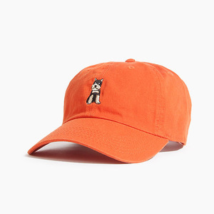 [WARF] Cotton Ballcap Schnauzer Orange, 모자, 볼캡 - 풋셀스토어
