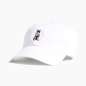 [WARF] Cotton Ballcap Schnauzer White, 모자, 볼캡 - 풋셀스토어