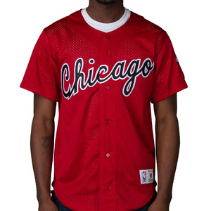 미첼엔네스 NBA 시카고불스 메쉬 져지, MITCHELL AND NESS CHICAGO BULLS NBA MESH BUTTON JERSEY