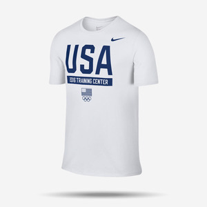 나이키 USA 드라이핏 국대 반팔티, Nike Team USA 2016 Olympic Trials T Shirt, 801198-100