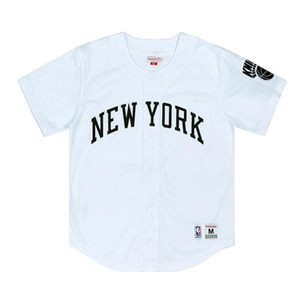 미첼엔네스 뉴욕 닉스 메쉬 져지, MitchellandNess NEWYORK KNICKS MESH BUTTON -WHITE