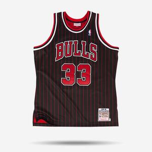 미첼엔네스 NBA 스카티 피펜 하드우드 클래식 어센틱 져지, MitchellandNess Scottie Pippen 1995-96 Authentic Jersey Chicago Bulls