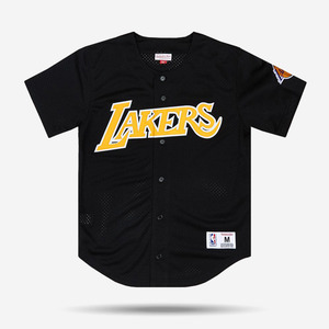 미첼엔네스 NBA LA 레이커스 메쉬 져지, MitchellandNess LA LAKERS MESH BUTTON