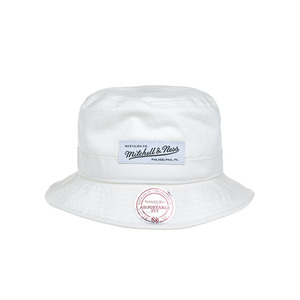 미첼엔네스 라벨 로고 버킷햇, MitchellandNess LABEL LOGO BUCKET-OFF WHITE