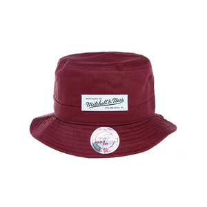미첼엔네스 라벨 로고 버킷햇, MitchellandNess LABEL LOGO BUCKET-BEET RED