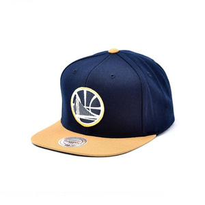 미첼엔네스 골든스테이트 워리어스 스냅백, MitchellandNess GOLDEN STATE WARRIORS SNAPBACK - NAVY/OLD GOLD