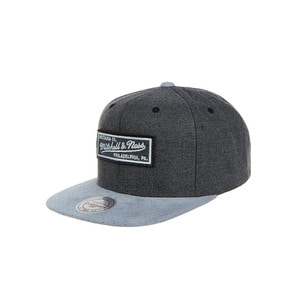 미첼엔네스 로고 스웨이드 스냅백, MitchellandNess LOGO CATION PERFORATED SUEDE SNAPBAC