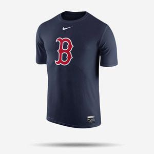 나이키 MLB 보스턴 레드삭스 로고 드라이핏 반팔티(네이비), NIKE MLB BOSTON REDSOX LOGO DRI-FIT T SHIRT
