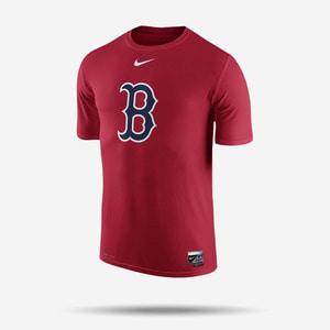 나이키 MLB 보스턴 레드삭스 로고 드라이핏 반팔티(레드), NIKE MLB BOSTON REDSOX LOGO DRI-FIT T SHIRT
