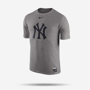 나이키 MLB 뉴욕 양키즈 드라이핏 로고 반팔티(그레이), NIKE MLB New York Yankees LOGO DRI-FIT T SHIRT