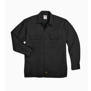 [디키즈] DICKIES 574 Work L/s Shirt Black - 풋셀스토어
