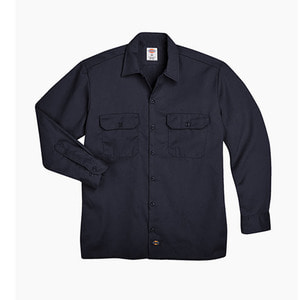 [디키즈] DICKIES 574 Work L/s Shirt Dark Navy - 풋셀스토어