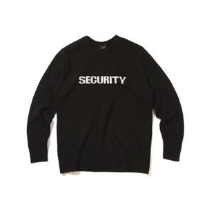 [어반스터프] USF LAMBSWOOL SECURITY KNIT BLACK, 긴팔티