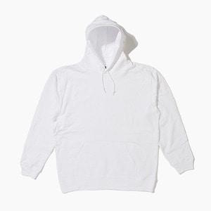 [젤란] JELLAN Pullover Hoodie White, 무지 후드티