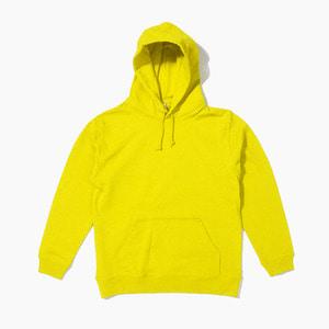 [젤란] JELLAN Pullover Hoodie Yellow, 무지 후드티