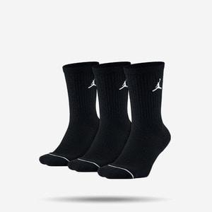 조던 점프맨 크루 3팩 삭스, JORDAN JUMPMAN CREW - 3PPK, SX5545-013, 조던 양말