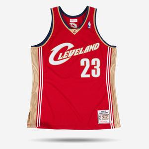 미첼엔네스 NBA 클리블랜드 르브론 제임스 하드우드 클래식 어센틱 져지, MitchellandNess LeBron James 2003-04 Authentic Jersey Cleveland Cavaliers