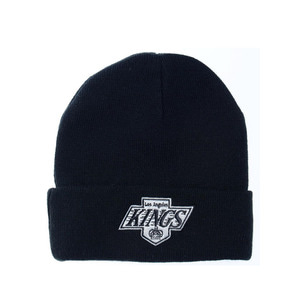 미첼엔네스 NHL LA킹스 헤드라인 커프 니트 비니, MitchellandNess LA KINGS HEADLINE CUFF KNIT BEANIE