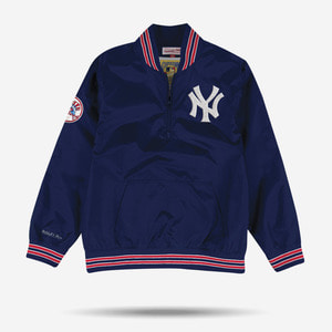 미첼엔네스 MLB 뉴욕 양키즈 1/4 풀오버 자켓, MitchellandNess 1/4 Zip Nylon Pullover New York Yankees