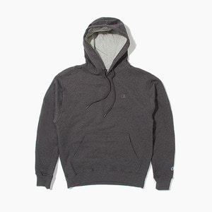 [챔피온] CHAMPION Powerblend Fleece Hoodie Charcoal, 챔피온 후드 - 풋셀스토어