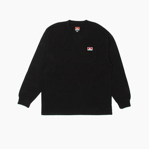 [BENDAVIS] BENDAVIS Classic Label Pk l/s Black, 벤데이비스 긴팔티