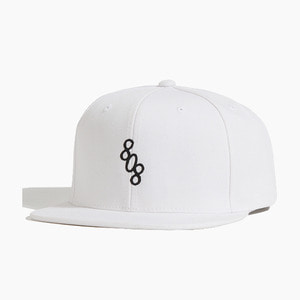 [808hats] 808 Classic Logo Snapback White, 도끼 스냅백