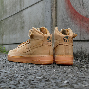 나이키 포스1하이 된장(GS), NIKE AIR FORCE 1 HIGH GS FLAX, 922066-203