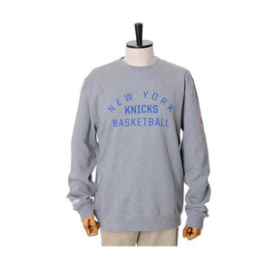 미첼엔네스 NBA 뉴욕닉스 팀이슈 맨투맨, MitchellandNess NEWYORK KNICKS TEAM ISSUED CREW SWEATSHIRTS - GREY HEATHER - 풋셀스토어
