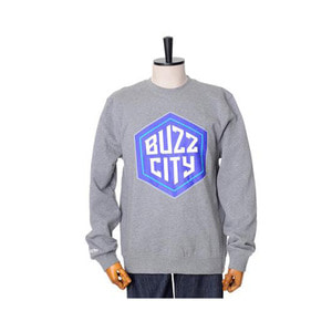 미첼엔네스 NBA 샬롯호네츠 버즈시티 로고 맨투맨, MitchellandNess CHARLOTTE HORNETS BUZZ CITY LOGO CREW SWEATSHIRTS - GREY HEATHER - 풋셀스토어