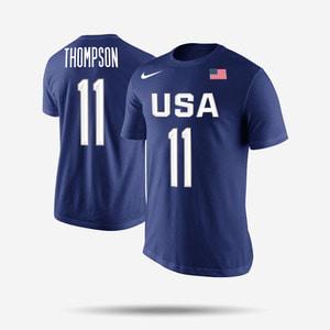 나이키 USA 국대 반팔티 클레이 탐슨, NIKE USA Basketball Klay Thompson  - 풋셀스토어