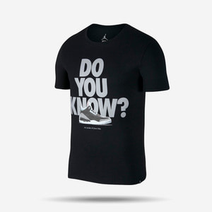 조던3 DO YOU KNOW 반팔티, M JSW TEE AJ3 DO YOU KNOW, 943936-010 - 풋셀스토어