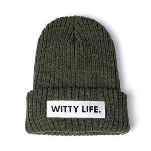 [위티나트] 위티라이프 비니 올리브 드랍 / WITTY LIFE BEANIE olive drab - 풋셀스토어