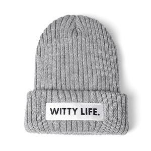 [위티나트] 위티라이프 비니 그레이 / WITTY LIFE BEANIE gray - 풋셀스토어