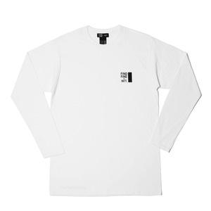 [위티나트] FFBW 로고 롱슬리브 티셔츠 화이트 / FFBW LOGO LSV T-SHIRT white - 풋셀스토어