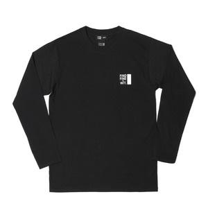 [위티나트] FFBW 로고 롱슬리브 티셔츠 블랙 / FFBW LOGO LSV T-SHIRT black - 풋셀스토어