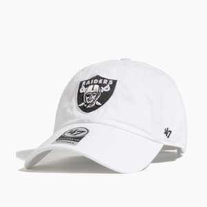 [47BRAND] NFL Clean Up Raiders White - 풋셀스토어