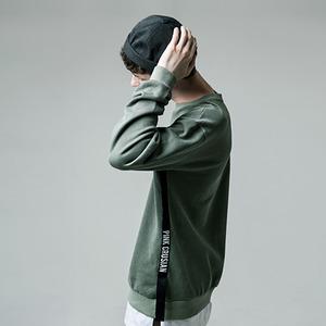 [핑크크루시안] 로고포인트 테잎 맨투맨_PCA1TS004_KH (남녀공용) - 풋셀스토어