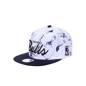 미첼엔네스 NBA 시카고불스 WHITE MARBLE SCRIPT 스냅백, MITCHELL&NESS NBA CHICAGO BULLS WHITE MARBLE SCRIPT SNAPBACK  - 풋셀스토어
