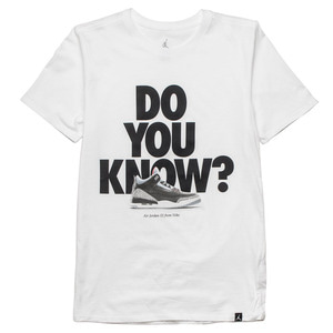 조던3 DO YOU KNOW 반팔티, M JSW TEE AJ3 DO YOU KNOW, 943936-100 - 풋셀스토어