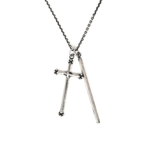 [어반스터프] USF CROSS LAYERED NECKLACE 925 SILVER - 풋셀스토어