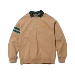 [어반스터프] USF EMBLEM COLLAR SWEAT SHIRTS BEIGE - 풋셀스토어