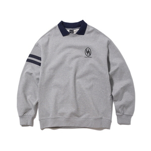 [어반스터프] USF EMBLEM COLLAR SWEAT SHIRTS GRAY - 풋셀스토어
