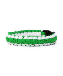 [피오에이] THIN FIT BRACELET - WHITE / GREEN - 풋셀스토어