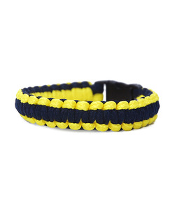 [피오에이] THIN FIT BRACELET - YELLOW / NAVY - 풋셀스토어