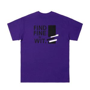 [위티나트] FFBW 사선로고 쇼트 슬리브 티셔츠 퍼플 / FFBW DIAGONAL LOGO SSV T-SHIRT purple - 풋셀스토어